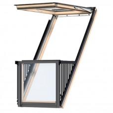 Мансардное окно-балкон VELUX Premium GDL CABRIO